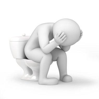 Man in toilet