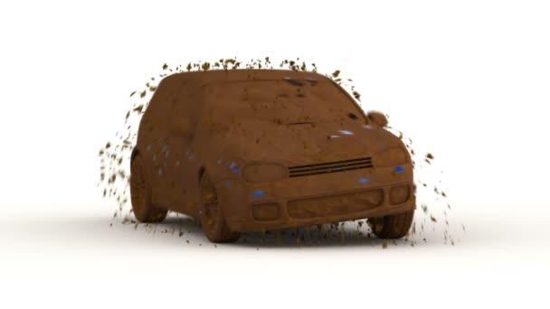 rychlé mytí aut, 3d animace