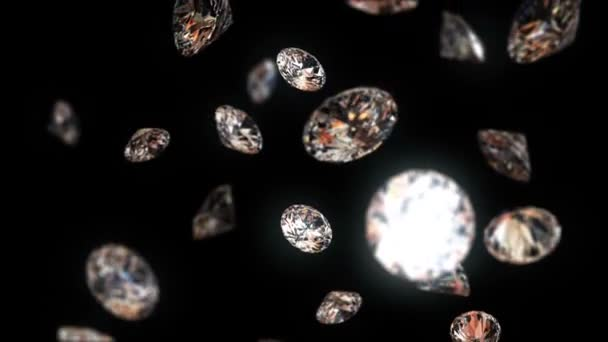 pomalu klesající diamanty