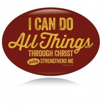 Vintage Christian design, I can do all things