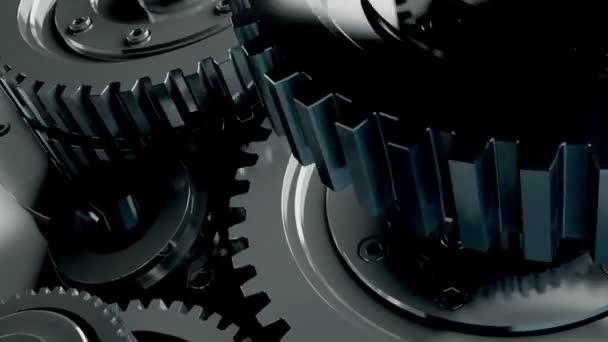 krásné 3d mechanismus do pohybu. obrázek na pozadí pro reklamu. konstrukce mechanismu v pohybu