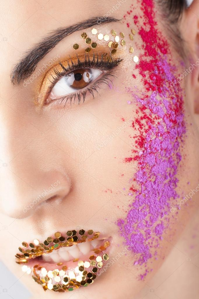 Model with extraordinary makeup