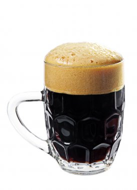 Black beer in a glass