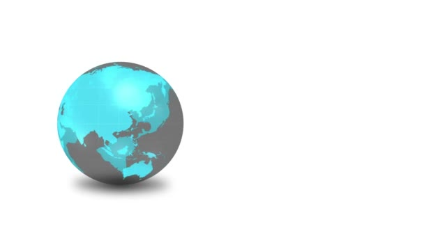 Digital earth globe animation