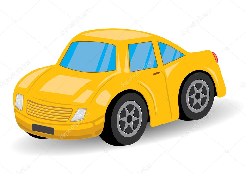 Yellow Sports Car Cartoon Vector Illustration Stock Vector