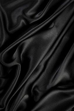 Black silk velvet cloth background