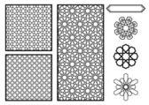 tradiční blízkovýchodní islámské vzory - vektor