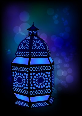 Islamic lamp for Ramadan Eid Celebrations - Vector Illustratio