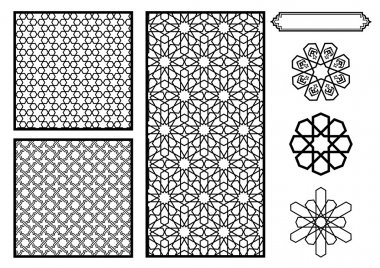 Traditional Middle Eastern Islamic Patterns - Vector
