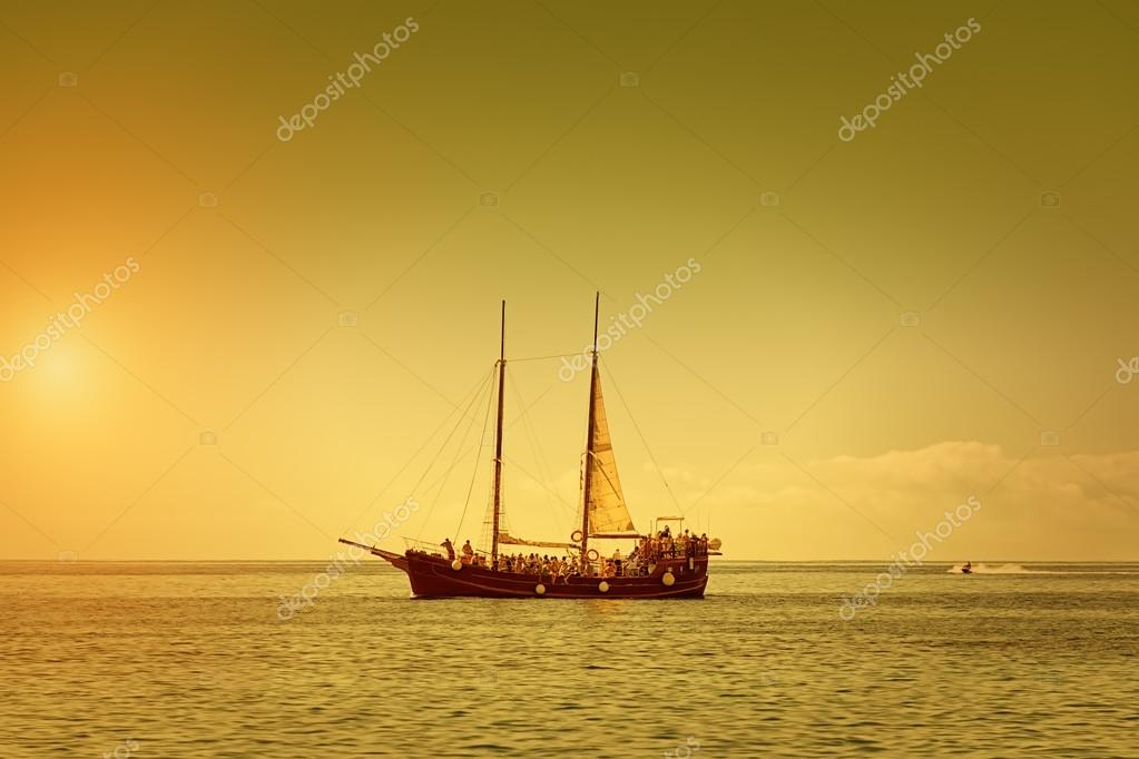 The Pirate Ship o a Summer Dusk