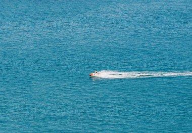 Person Cruising the Mediterranean Sea