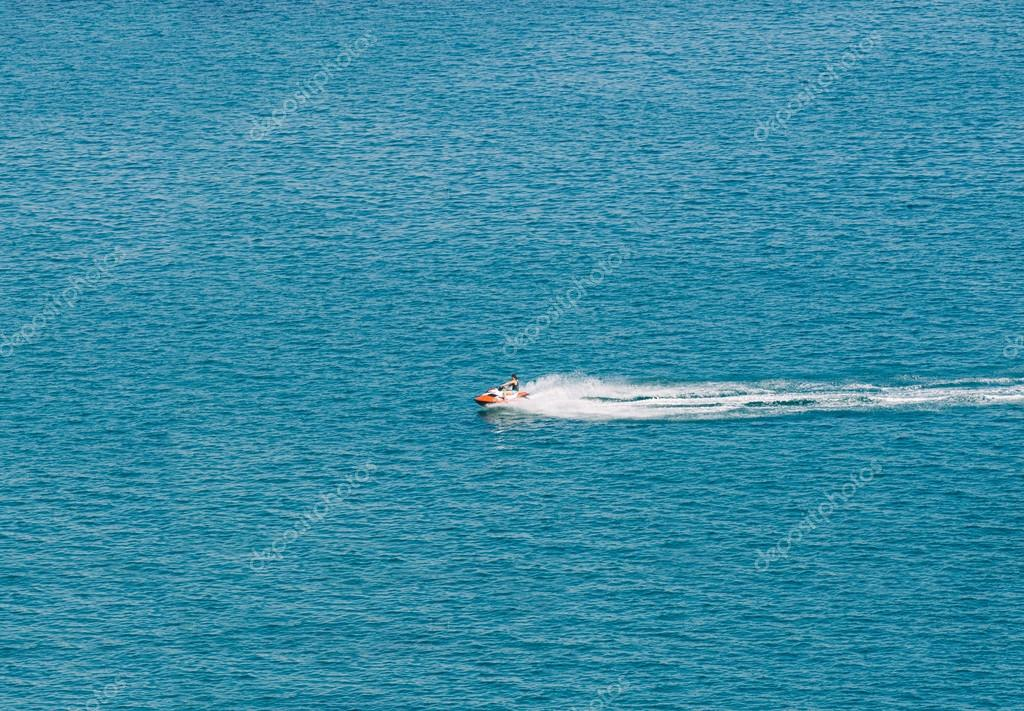 Person Cruising the Mediterranean Sea