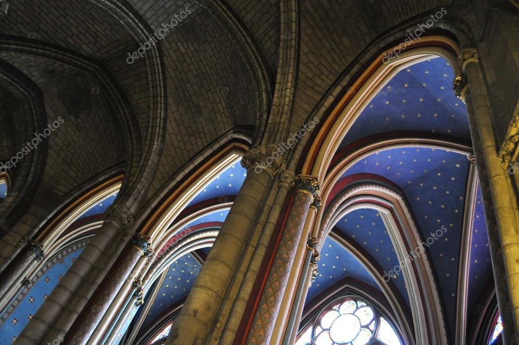 Les Voûtes De La Cathédrale Notre Dame De Paris Photographie