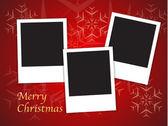 Vánoční přání šablony s prázdné rámečky