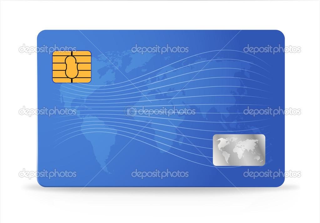 plantilla de diseño de tarjeta de crédito o débito — Vector de stock ...