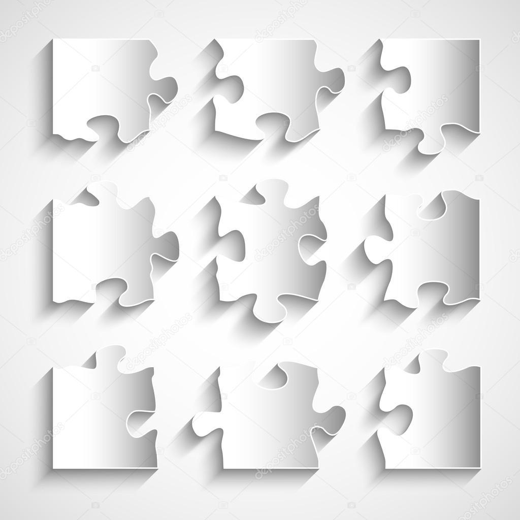 flat design 9 piece puzzle template stock vector gorgrigo 40889867