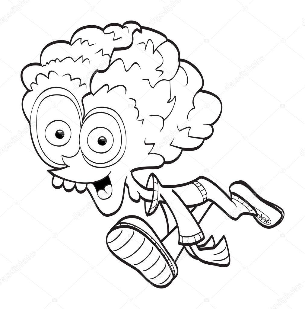 Alien Cartoon (libro para colorear) — Vector de stock © Bastetamon ...