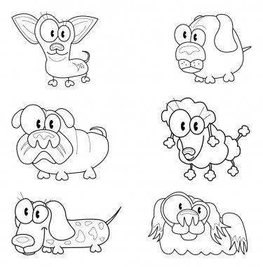 Collection of cartoon dogs