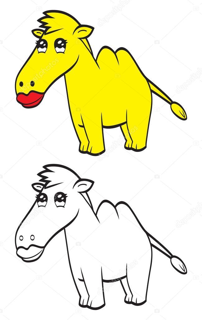 camello de dibujos animados lindo — Vector de stock © Bastetamon ...