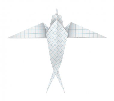 Origami swallow