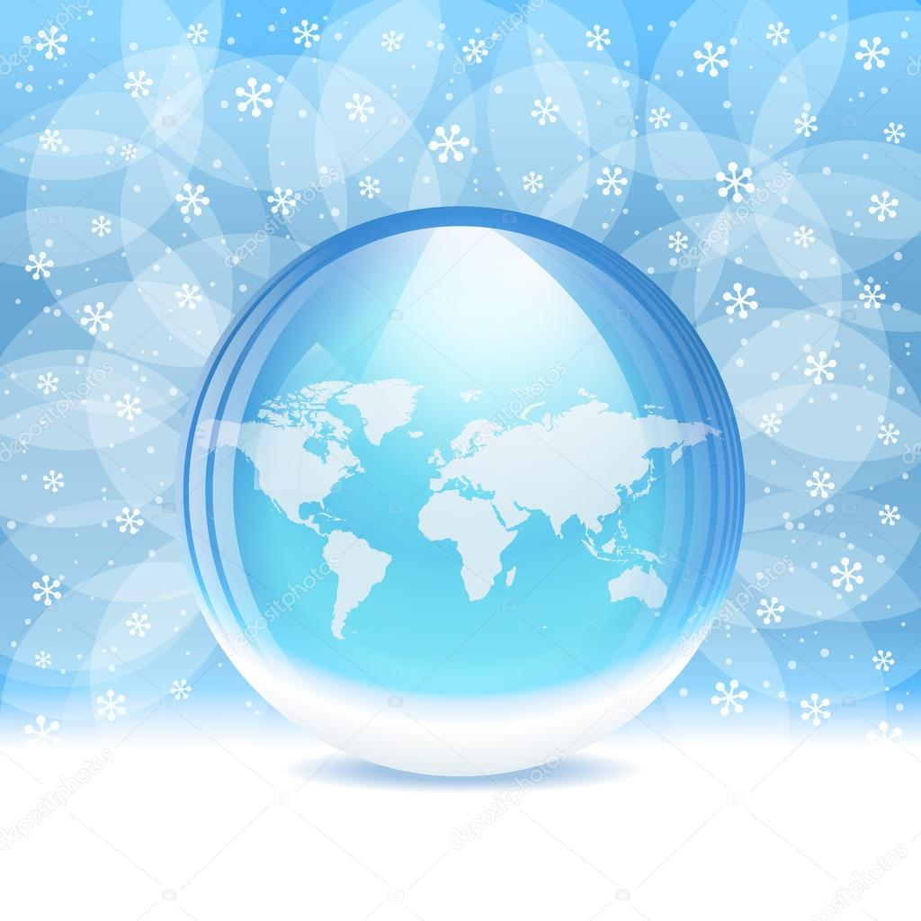 Vector transparent snow globe with map stock vector bastetamon a vector illustration of a transparent snow globe with map includes transparent objects and opacity masks layered vector by bastetamon gumiabroncs Gallery