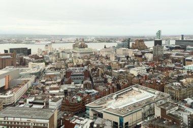 Birdseye view of Liverpool