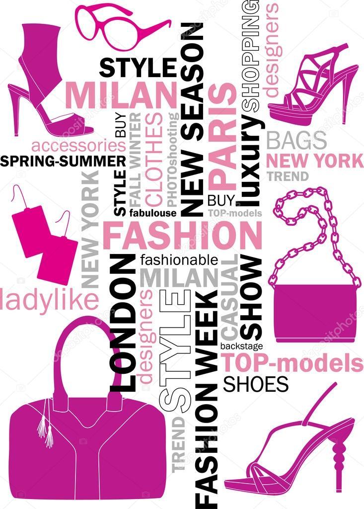 fashion words � stock vector 169 azulex 23144874