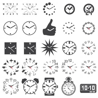 Set of watch icons