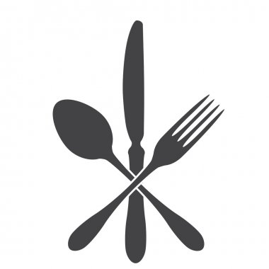 Spoon, knife and fork - cross