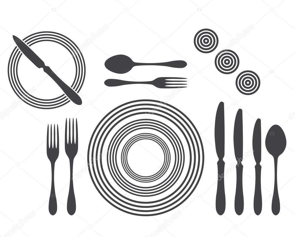 Etiquette Proper Table Setting \u2014 Stock Vector  sc 1 st  Depositphotos & Etiquette Proper Table Setting \u2014 Stock Vector © strejman #18646793