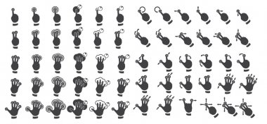 Set of multitouch gestures