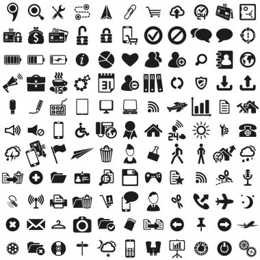 Universal web icons set . Vector illustration stock vector