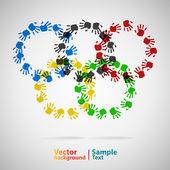Olimpiai gyűrűk kéz nyomtatási