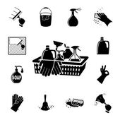 Fotografie Icons set Cleaning