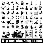 Fényképek Nagy készlet tisztítása ikonok