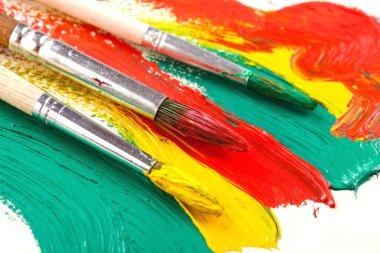 """Картина, постер, плакат, фотообои """"краски и кисти москва"""", артикул 50240075"""