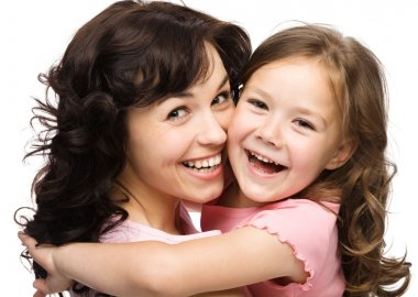 Portrait of happy daughter with her mother