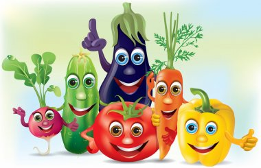Cartoon company vegetables
