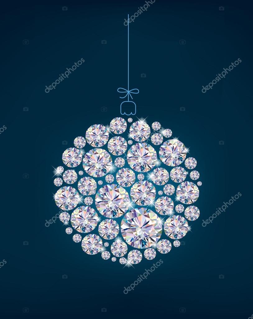 Diamond christmas ball on blue background stock vector pinkkoala diamond christmas ball on blue background stock vector aloadofball Gallery