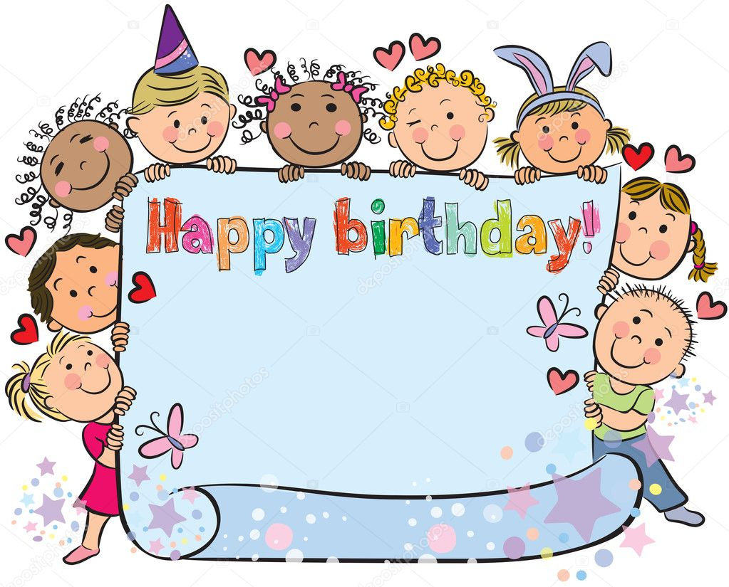 barn födelsedag Födelsedag barn — Stock Vektor © pinkkoala #19386731 barn födelsedag