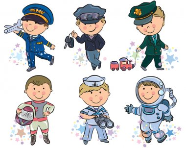 Professions kids set 1