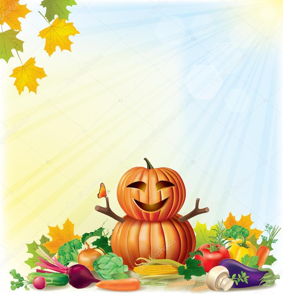 Harvest autumn background