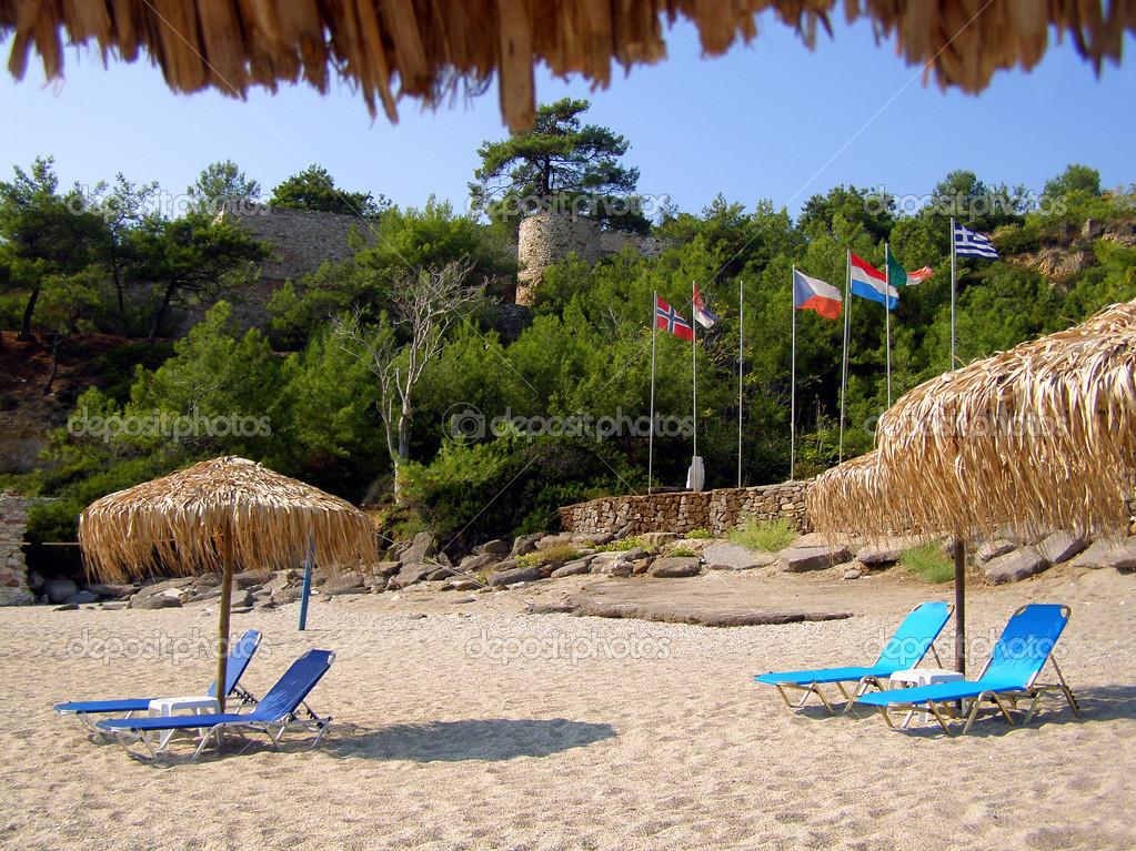 Metalia beach near Limenaria, Thassos — Stock Photo ...