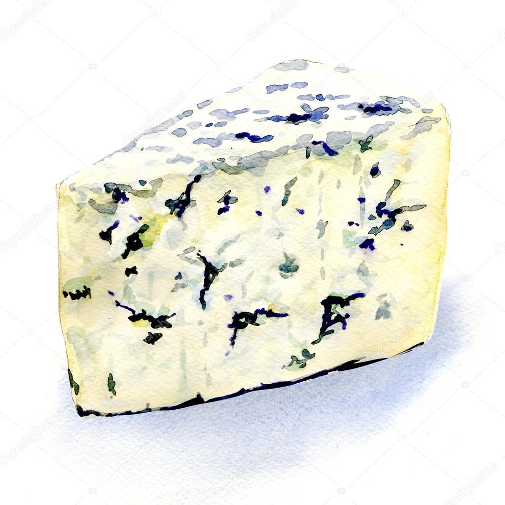 Köstliche Schimmel Käse Auf Weißem Hintergrund Stockfoto Deslns