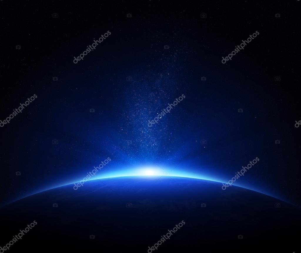 Earth sunrise in space