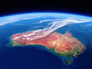 Australia seen from space - Earth daytime