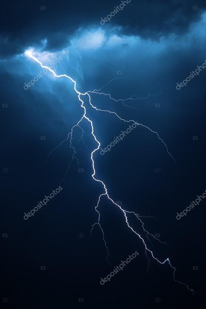 Lightning with dramatic cloudscape