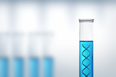 DNA research or testing in a laboratory