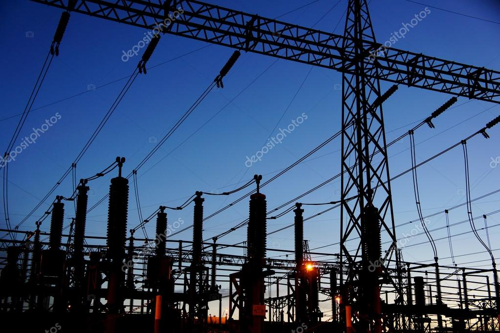 electrical substation silhouette