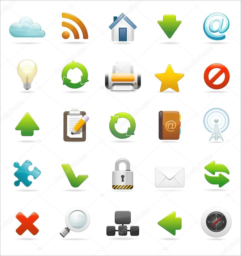 Browser and web icon set